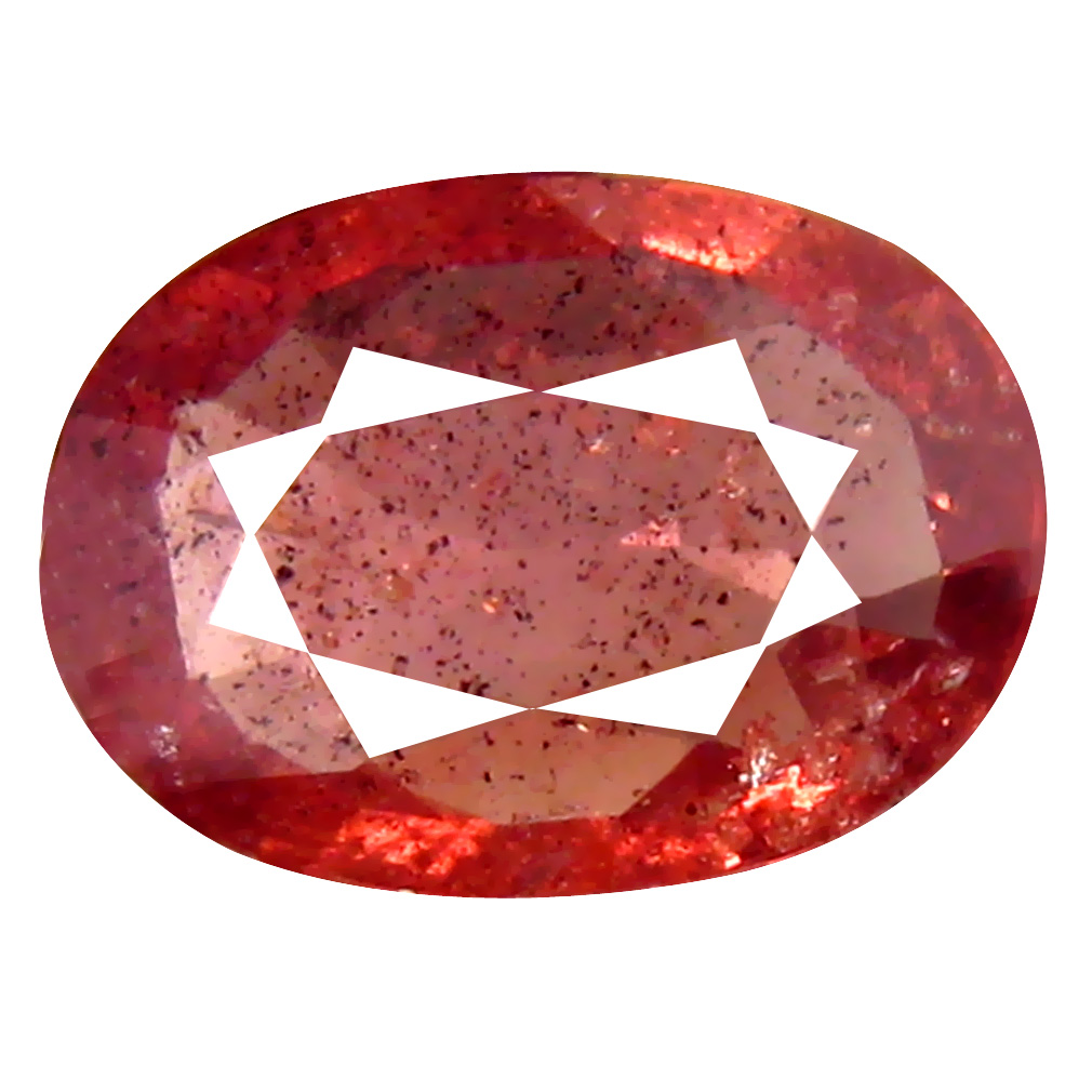 1.57 ct Tremendous Oval Cut (9 x 7 mm) Un-Heated Orange Red Sapphire Natural Gemstone