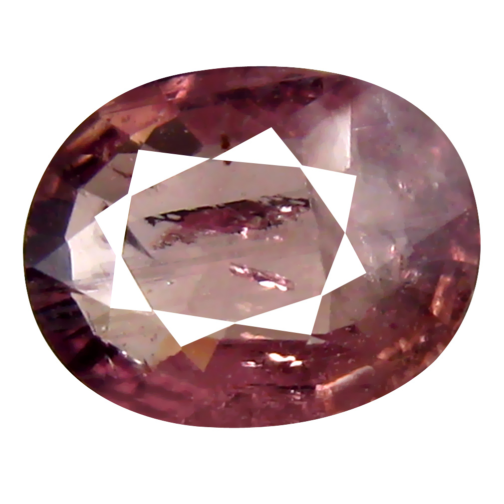 1.43 ct Super-Excellent Oval Cut (8 x 6 mm) Un-Heated Orange Pink Sapphire Natural Gemstone