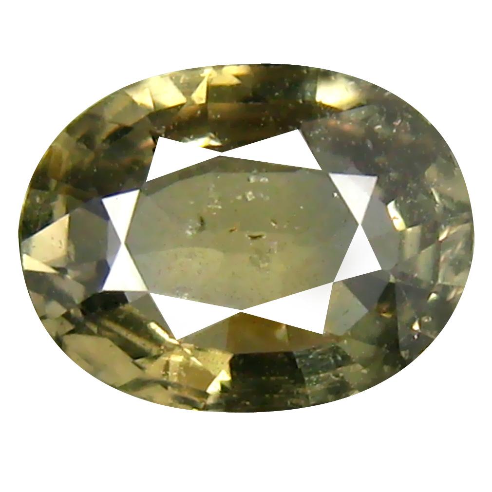1.26 ct Very good Oval Cut (8 x 6 mm) Un-Heated Yellow Green Sapphire Natural Gemstone