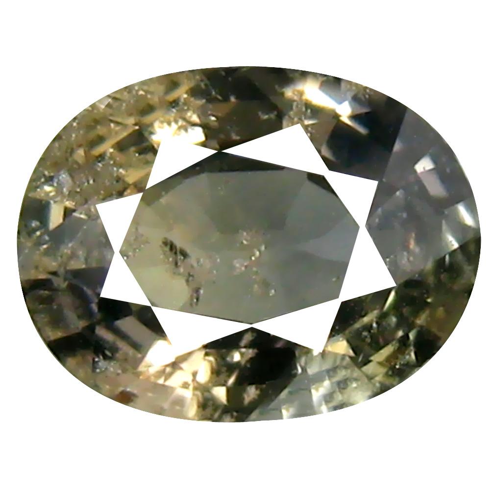 1.34 ct Terrific Oval Cut (8 x 6 mm) Un-Heated Yellow Green Sapphire Natural Gemstone