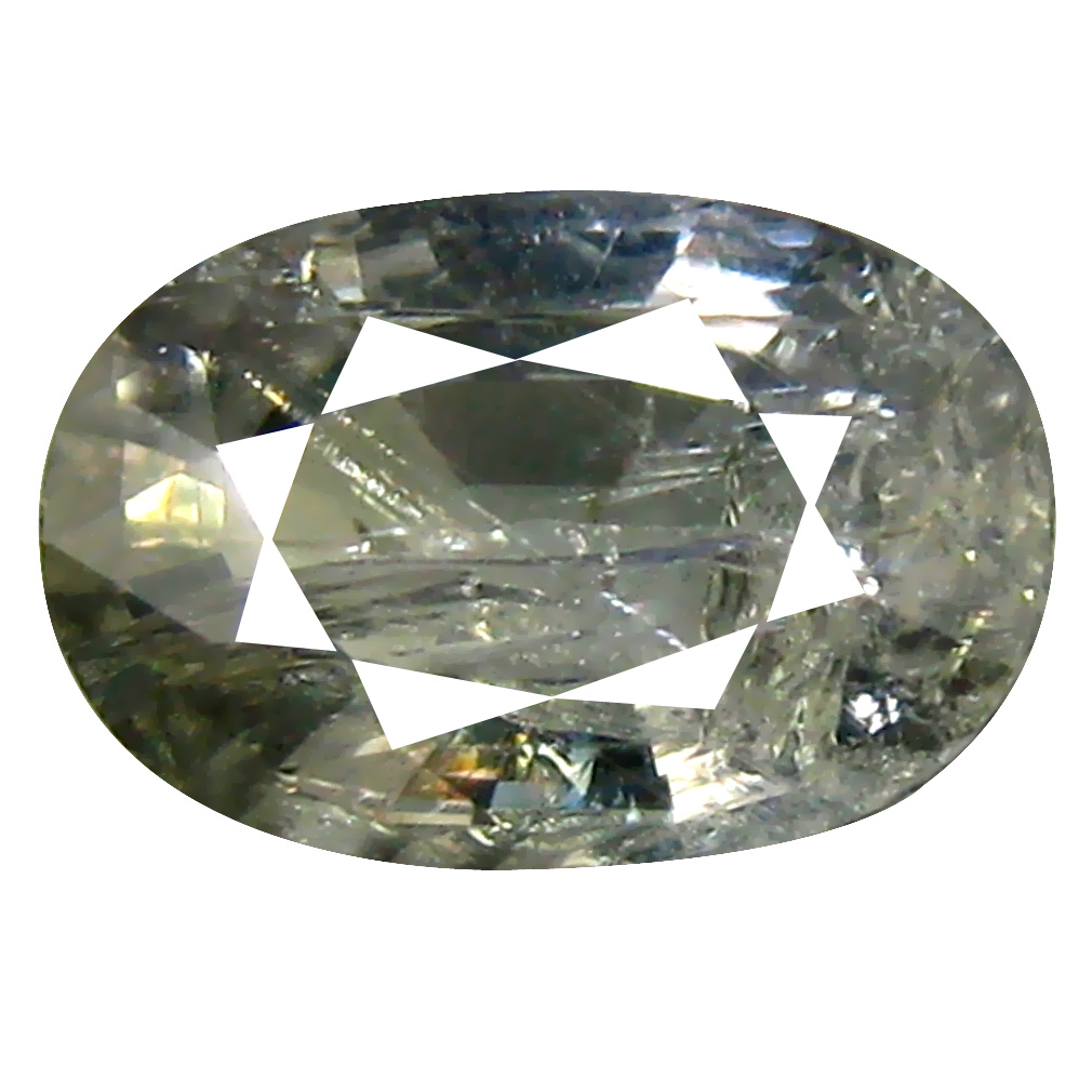 1.92 ct Attractive Oval Cut (9 x 6 mm) Un-Heated Olive Green Sapphire Natural Gemstone