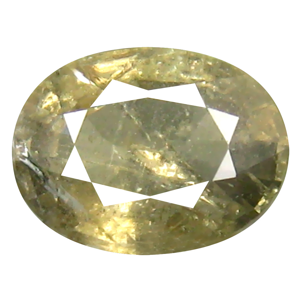 1.19 ct Pretty Oval Cut (7 x 5 mm) Un-Heated Yellow Green Sapphire Natural Gemstone