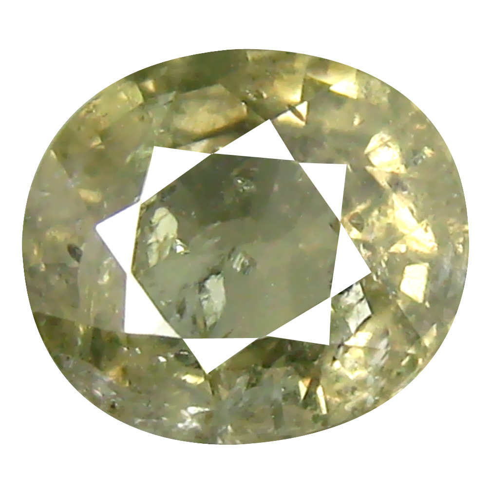 2.00 ct Eye-catching Oval Cut (8 x 7 mm) Un-Heated Yellow Green Sapphire Natural Gemstone