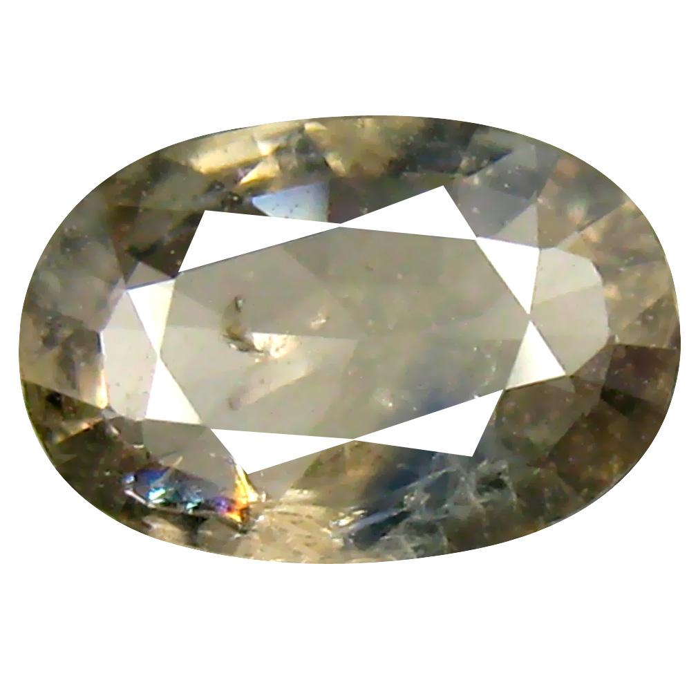 1.49 ct Phenomenal Oval Cut (9 x 6 mm) Un-Heated Yellow Green Sapphire Natural Gemstone