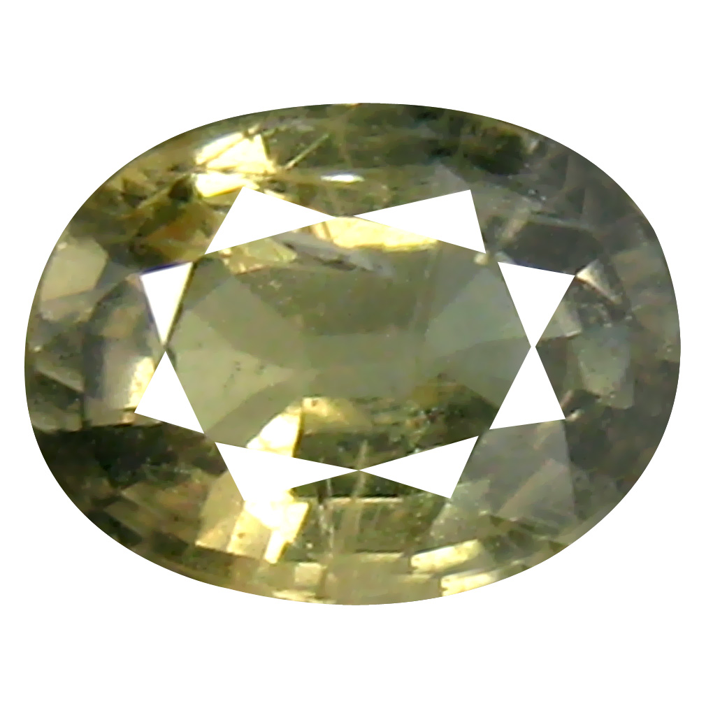 1.04 ct Beautiful Oval Cut (7 x 5 mm) Un-Heated Yellow Green Sapphire Natural Gemstone
