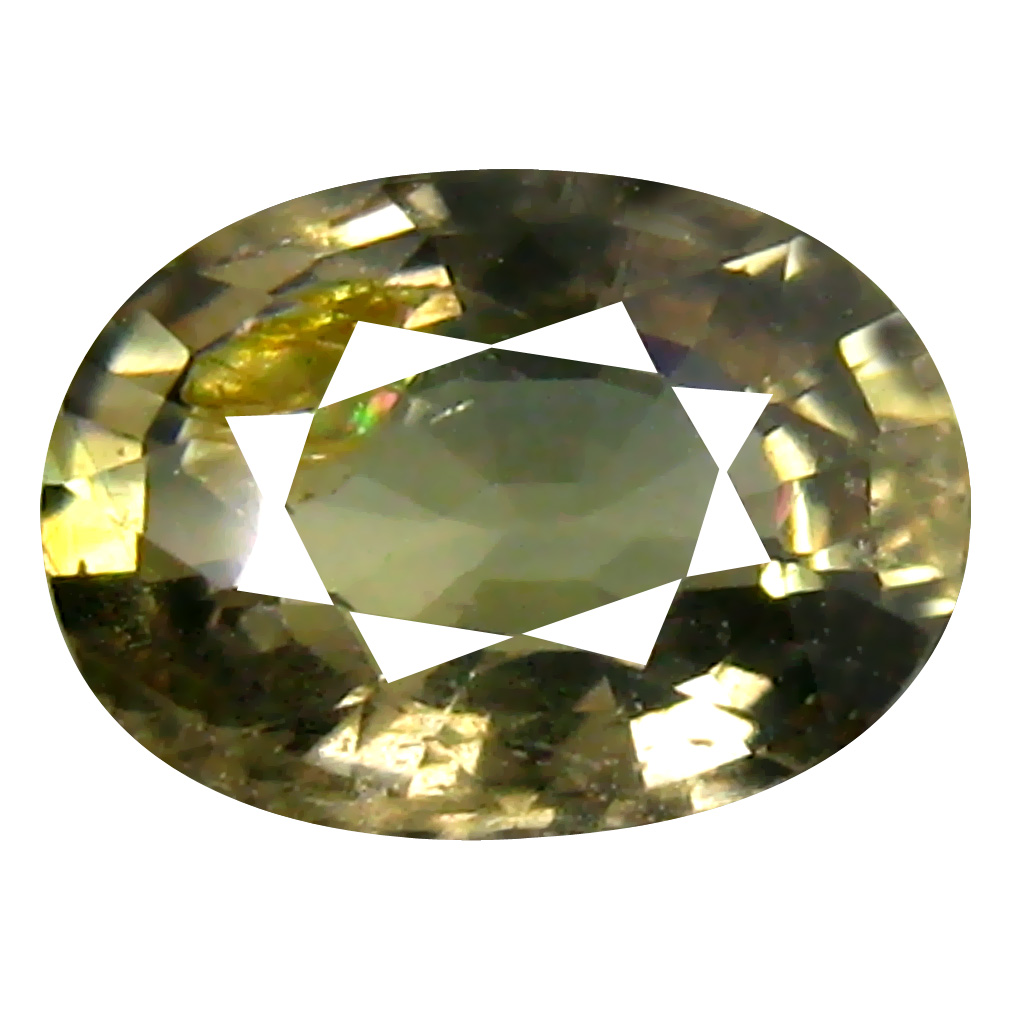 1.09 ct Wonderful Oval Cut (7 x 5 mm) Un-Heated Yellow Green Sapphire Natural Gemstone
