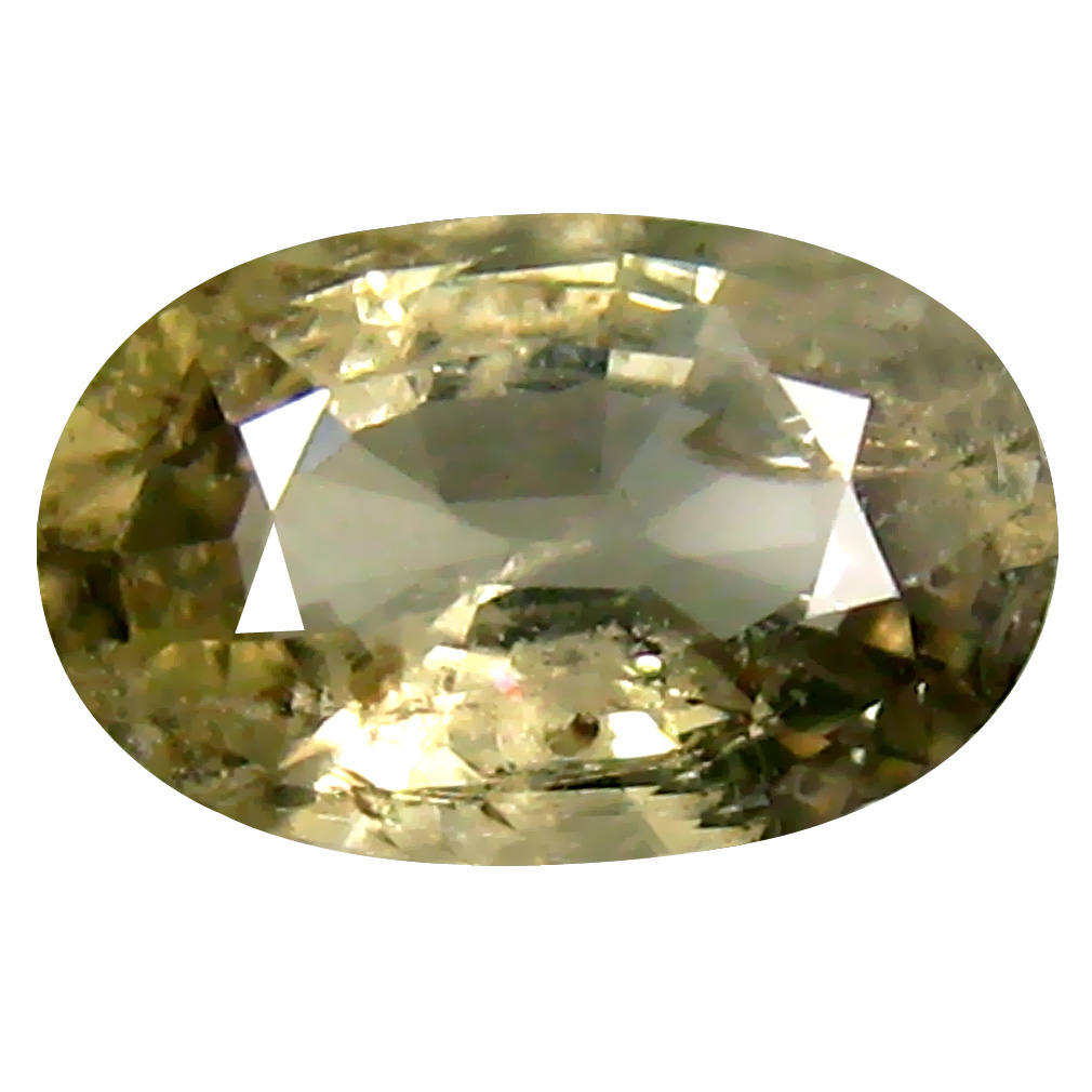 1.20 ct Lovely Oval Cut (8 x 5 mm) Un-Heated Yellow Green Sapphire Natural Gemstone