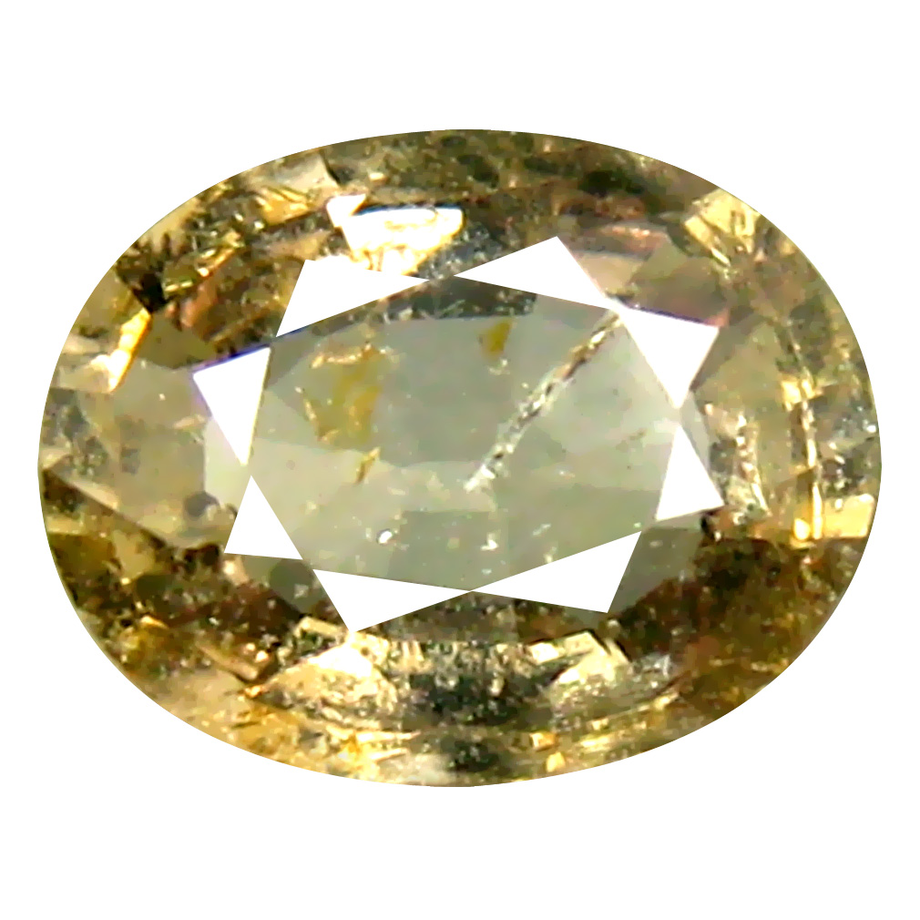 1.23 ct Great looking Oval Cut (7 x 6 mm) Un-Heated Yellow Green Sapphire Natural Gemstone