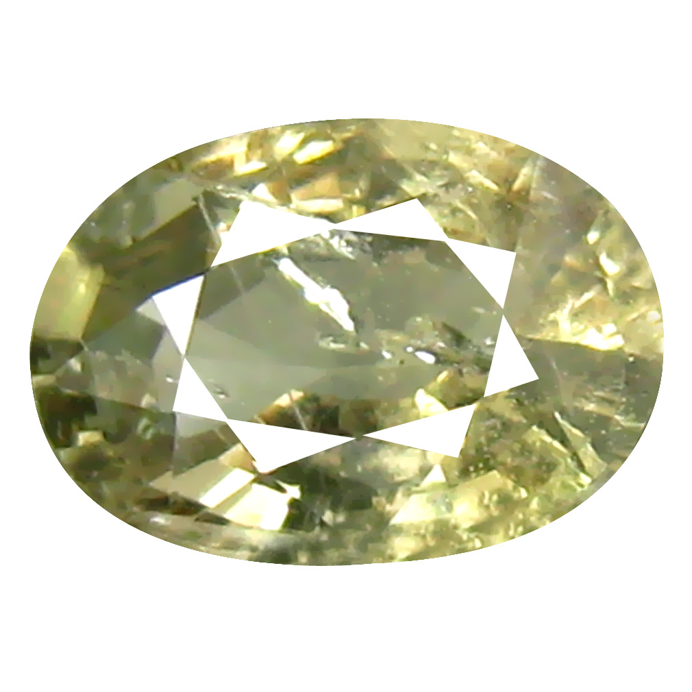 1.06 ct Grand looking Oval Cut (7 x 5 mm) Un-Heated Yellow Green Sapphire Natural Gemstone