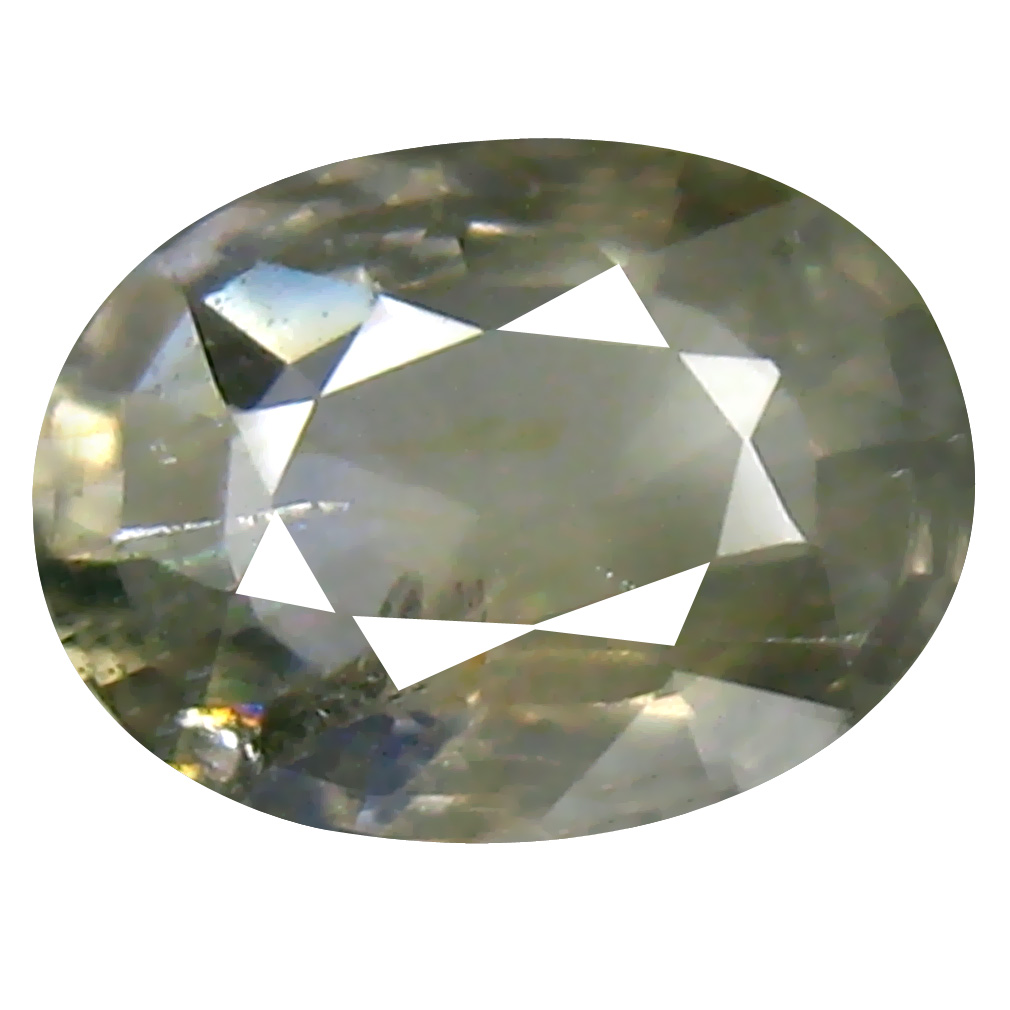1.31 ct Valuable Oval Cut (8 x 6 mm) Un-Heated Grayish Green Sapphire Natural Gemstone
