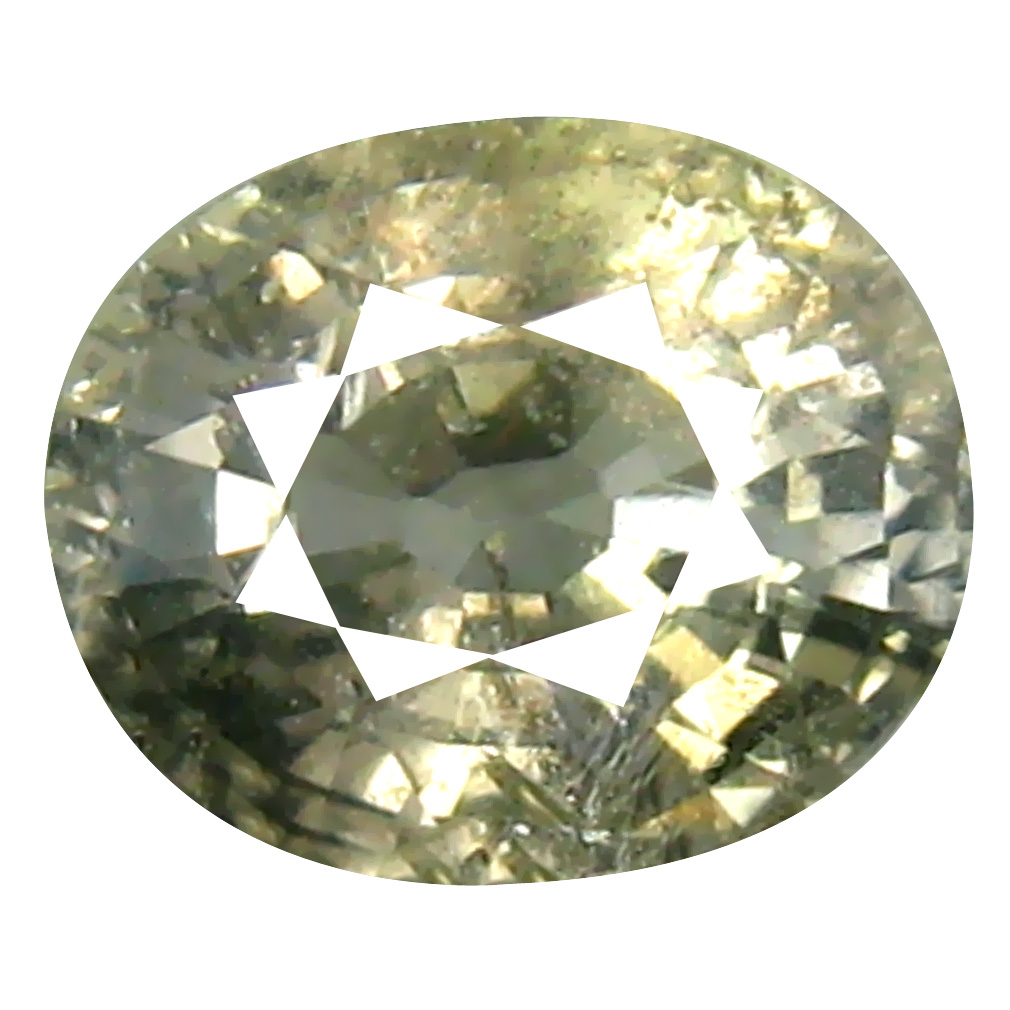 1.23 ct Terrific Oval Cut (6 x 5 mm) Un-Heated Yellow Green Sapphire Natural Gemstone