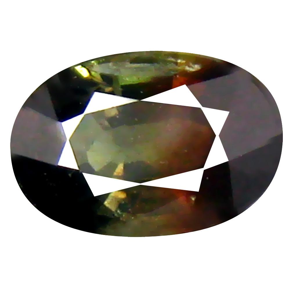 1.34 ct Impressive Oval Cut (7 x 5 mm) Un-Heated Greenish Red Sapphire Natural Gemstone