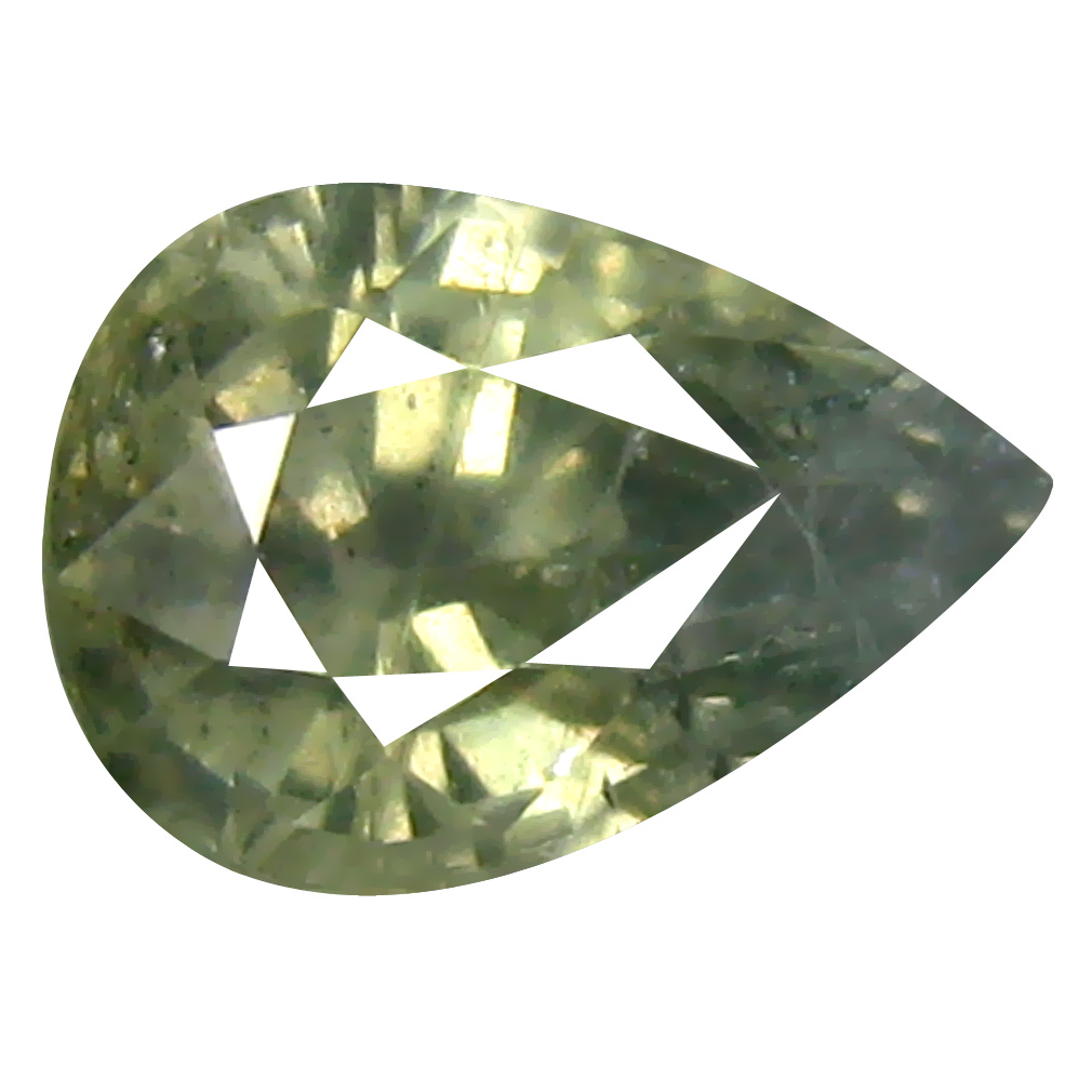 1.28 ct Terrific Pear Cut (7 x 5 mm) Un-Heated Yellow Green Sapphire Natural Gemstone