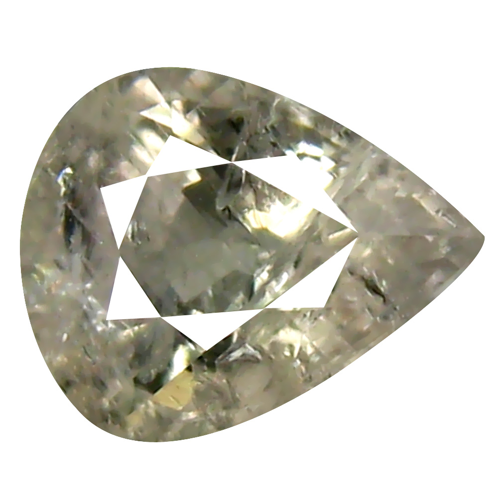 1.26 ct Super-Excellent Pear Cut (7 x 6 mm) Un-Heated Yellow Green Sapphire Natural Gemstone