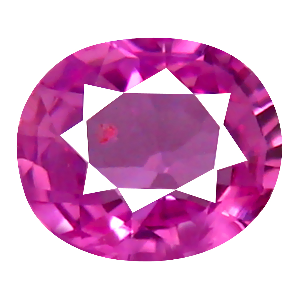 0.37 ct EXTRAORDINARY OVAL CUT (5 X 4 MM) UNHEATED / UNTREATED NATURAL PINK SAPPHIRE LOOSE GEMSTONE