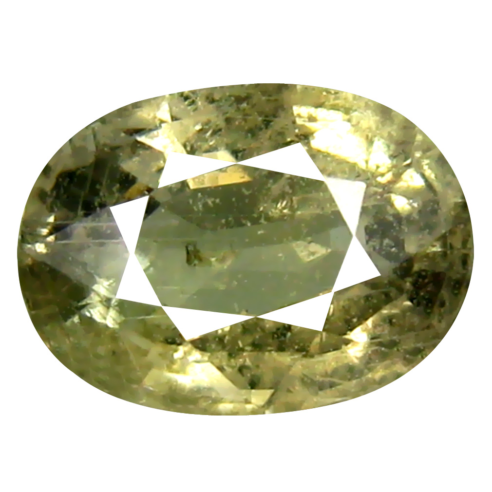 1.64 ct Pretty Oval Cut (8 x 6 mm) Un-Heated Yellow Green Sapphire Natural Gemstone
