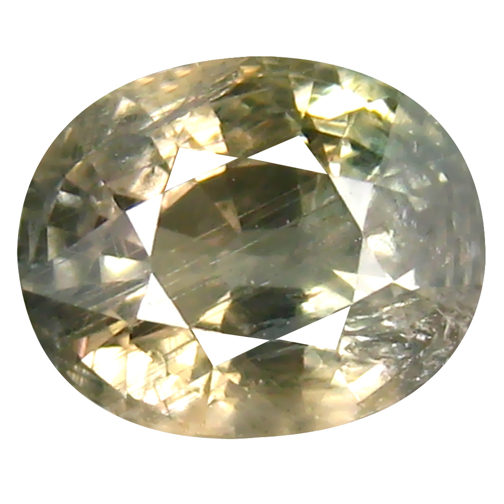 2.32 ct Phenomenal Oval Cut (8 x 7 mm) Un-Heated Yellow Green Sapphire Natural Gemstone
