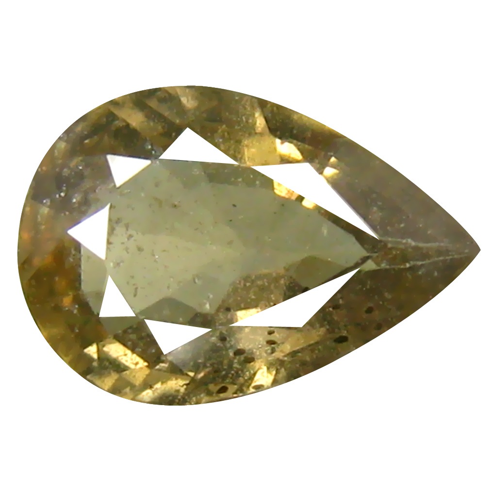 1.89 ct Best Pear Cut (10 x 7 mm) Un-Heated Yellow Green Sapphire Natural Gemstone