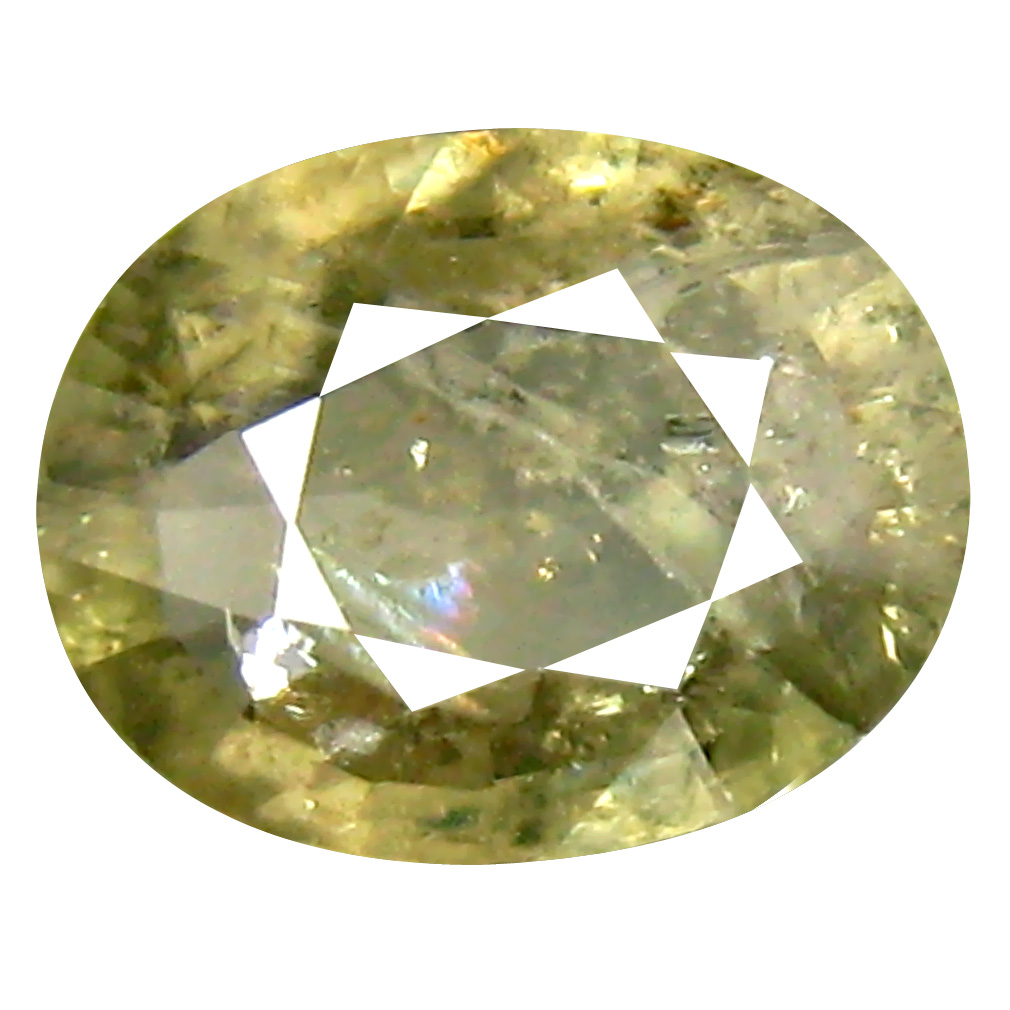 1.48 ct Grand looking Oval Cut (8 x 6 mm) Un-Heated Yellow Green Sapphire Natural Gemstone