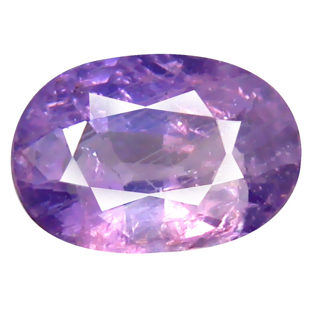 0.96 ct Premium Oval Cut (7 x 5 mm) Un-Heated Purple Sapphire Natural Gemstone