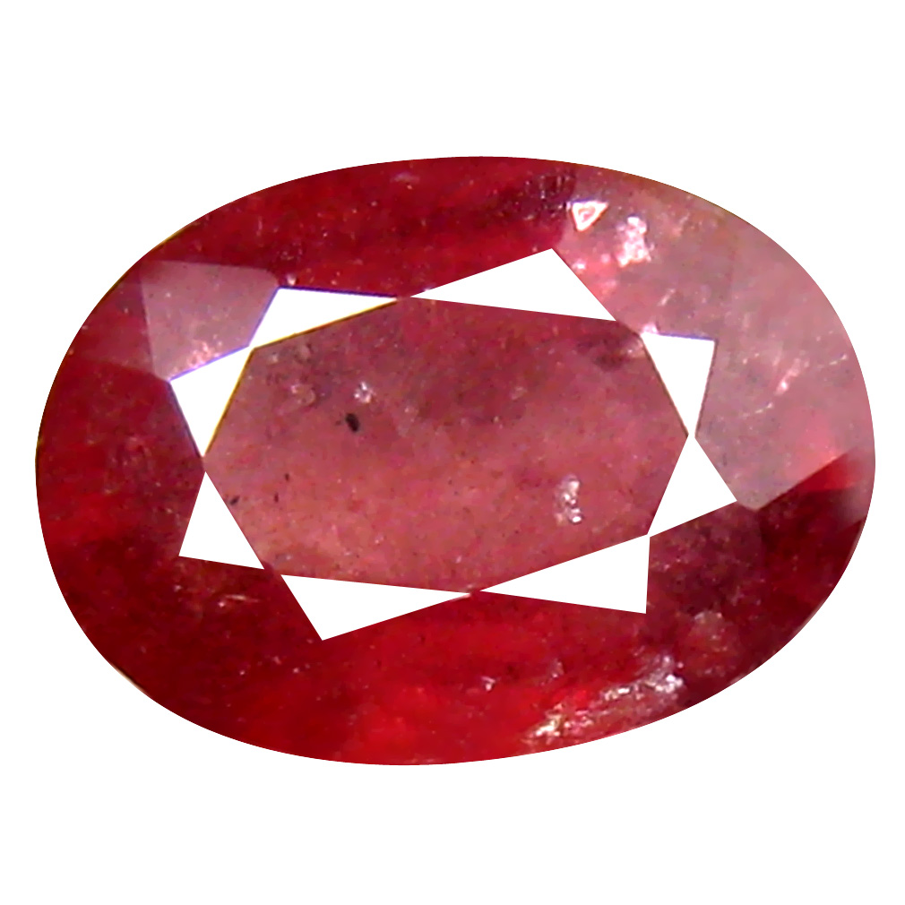 1.81 ct Supreme Oval Cut (9 x 6 mm) Un-Heated Pigeon Blood Red Sapphire Natural Gemstone