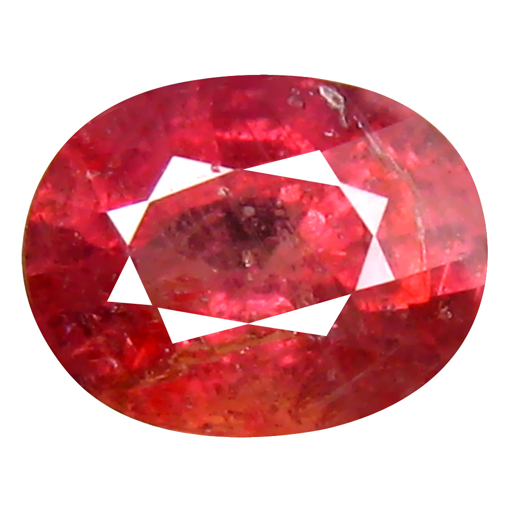 1.24 ct Eye-opening Oval Cut (7 x 5 mm) Un-Heated Pigeon Blood Red Sapphire Natural Gemstone