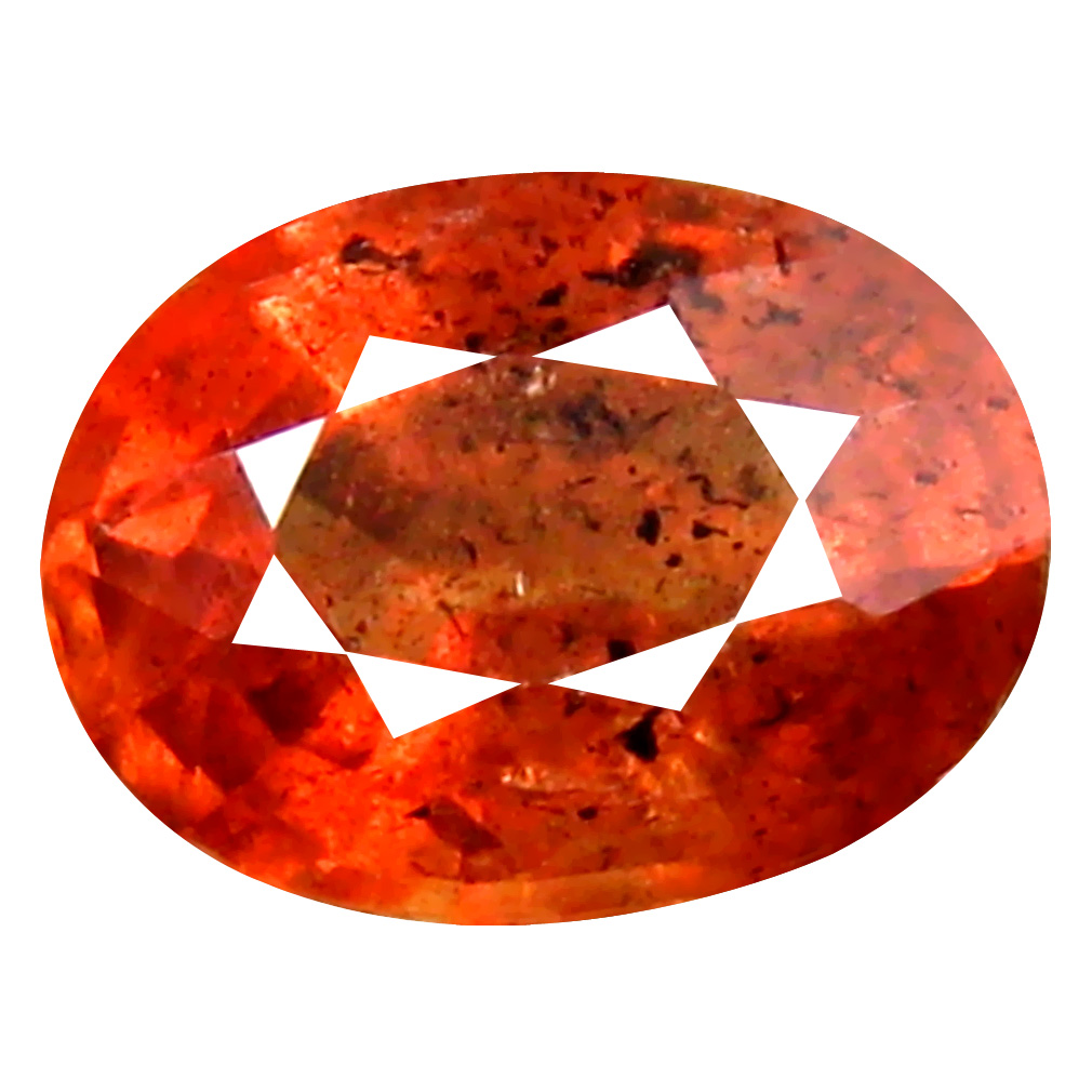 1.16 ct Outstanding Oval Cut (7 x 5 mm) Un-Heated Orange Red Sapphire Natural Gemstone