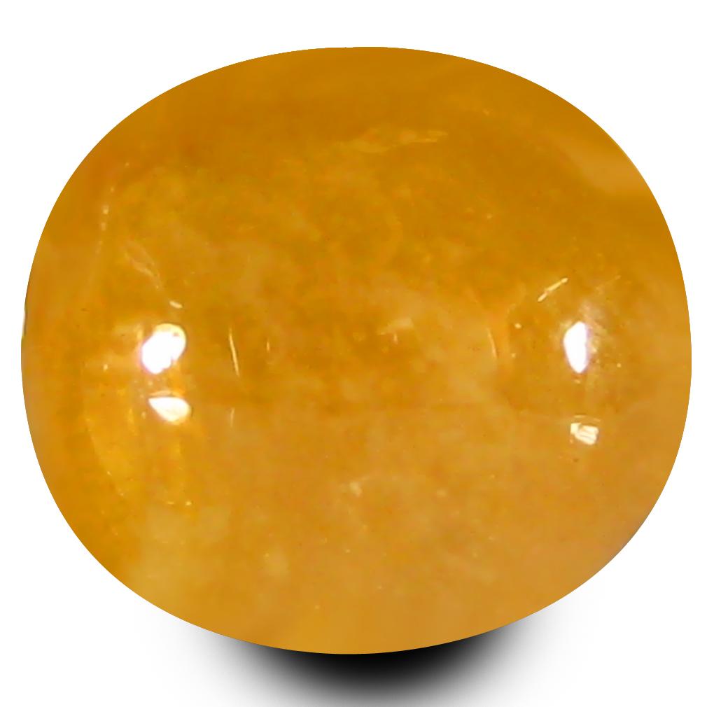 3.50 ct  Exquisite Oval Cabochon Shape (9 x 8 mm) Orange Sapphire Natural Gemstone