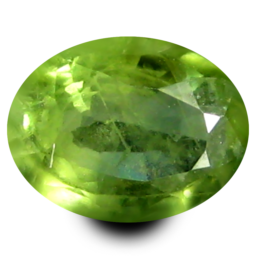 0.58 ct AAA Shimmering Oval Shape (6 x 4 mm) Natural Green Sapphire Loose Stone