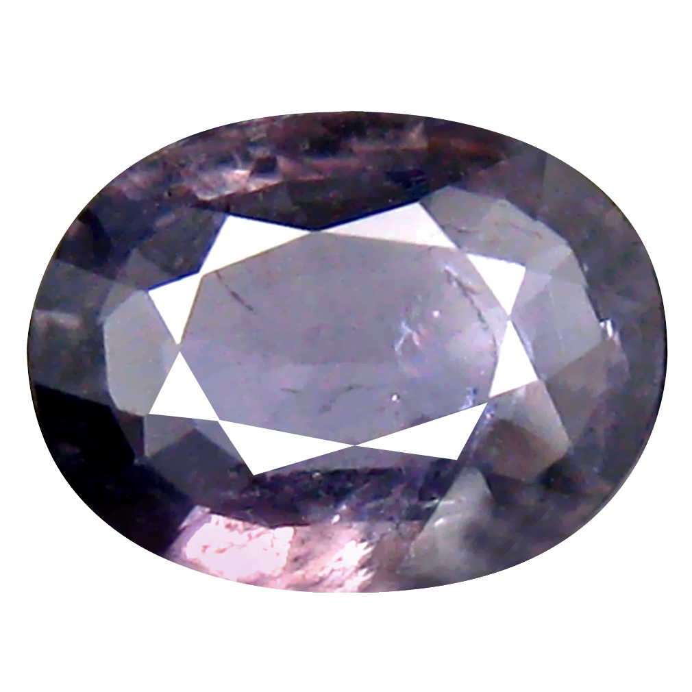 1.11 ct Sparkling Oval Cut (8 x 6 mm) Un-Heated Grayish Purple Sapphire Natural Gemstone