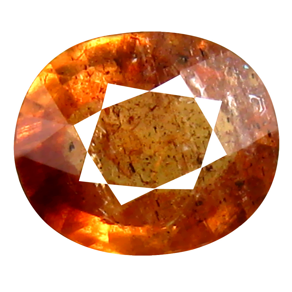 1.03 ct Magnificent Oval Cut (7 x 6 mm) Un-Heated Orange Red Sapphire Natural Gemstone