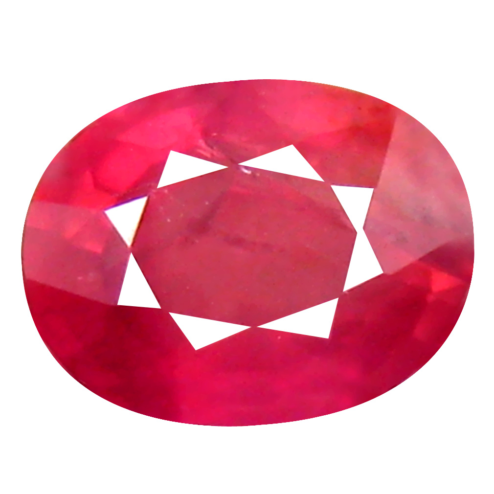 1.37 ct Significant Oval Cut (7 x 6 mm) Un-Heated Pigeon Blood Red Sapphire Natural Gemstone
