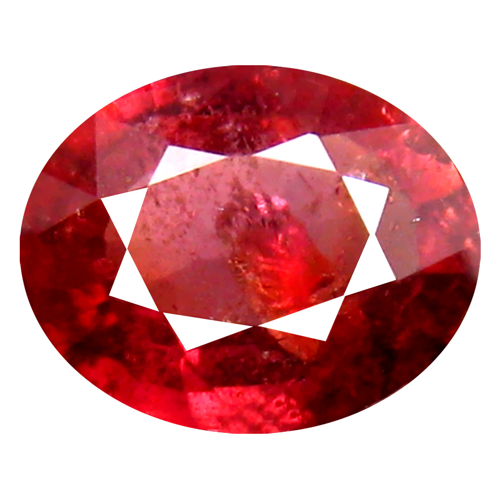 1.73 ct Outstanding Oval Cut (8 x 7 mm) Un-Heated Red Sapphire Natural Gemstone