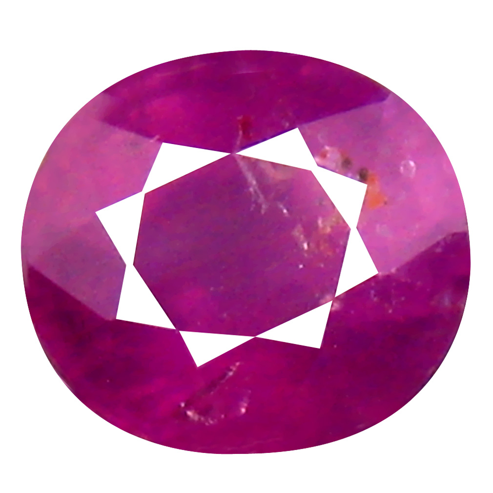 1.26 ct Amazing Oval Cut (6 x 6 mm) Un-Heated Reddish Pink Sapphire Natural Gemstone