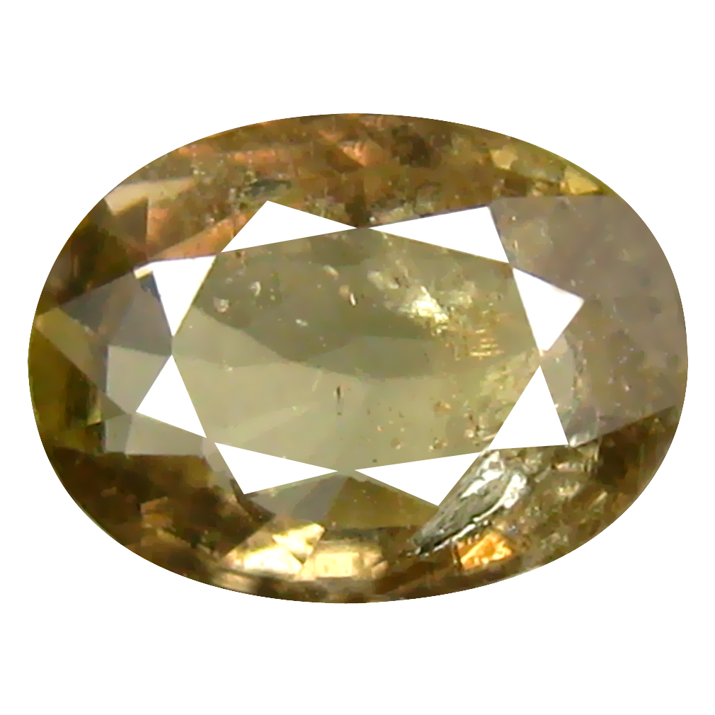 1.34 ct Incredible Oval Cut (8 x 6 mm) Un-Heated Olive Green Sapphire Natural Gemstone