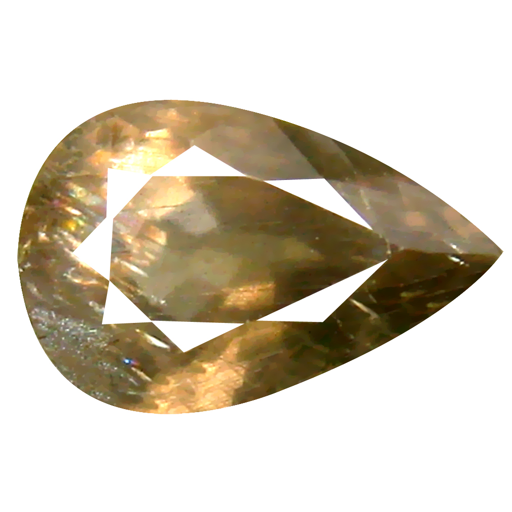 1.69 ct Five-star Pear Cut (9 x 6 mm) Un-Heated Grayish Green Sapphire Natural Gemstone