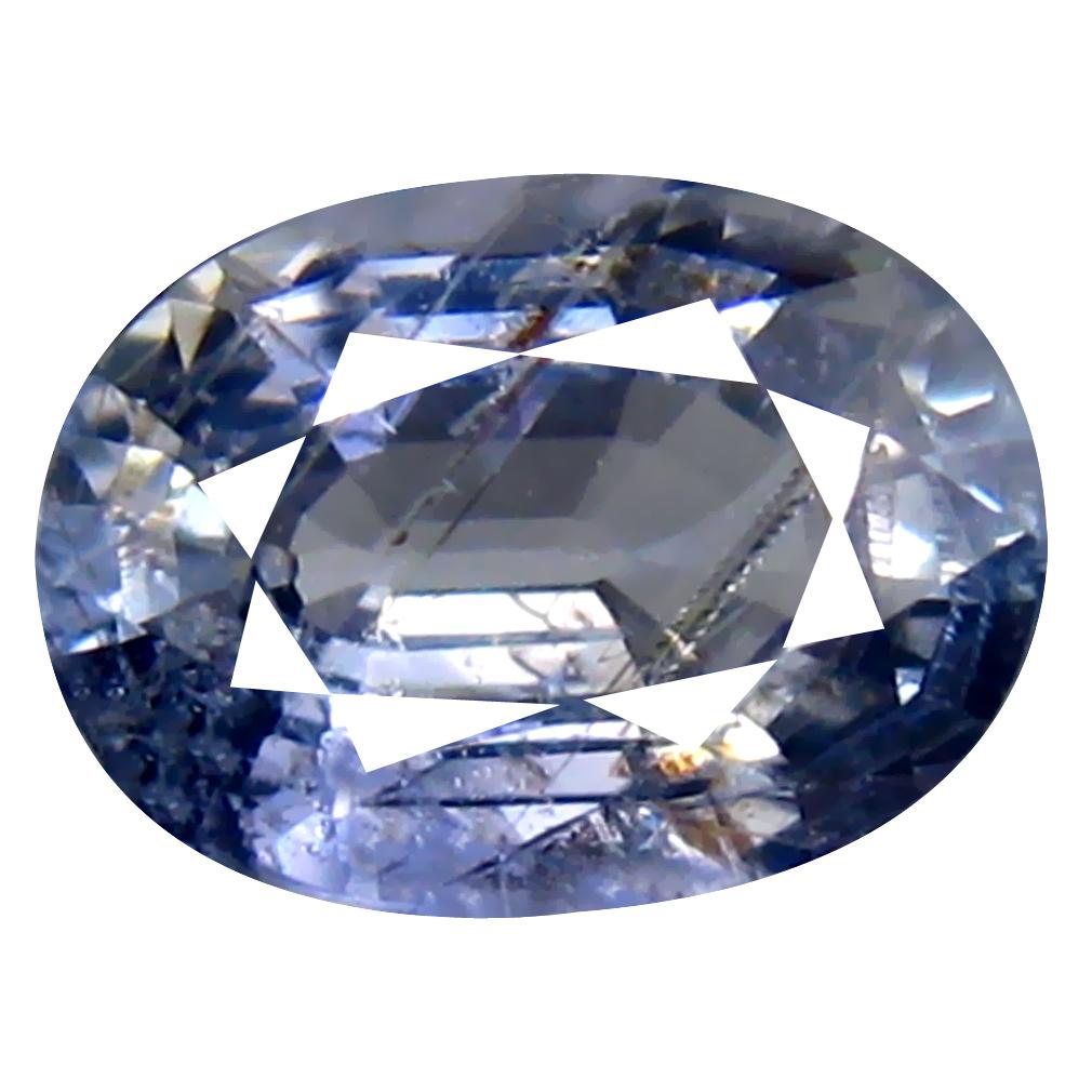 1.84 ct Gorgeous Oval Cut (8 x 6 mm) Un-Heated Purplish Blue Sapphire Natural Gemstone