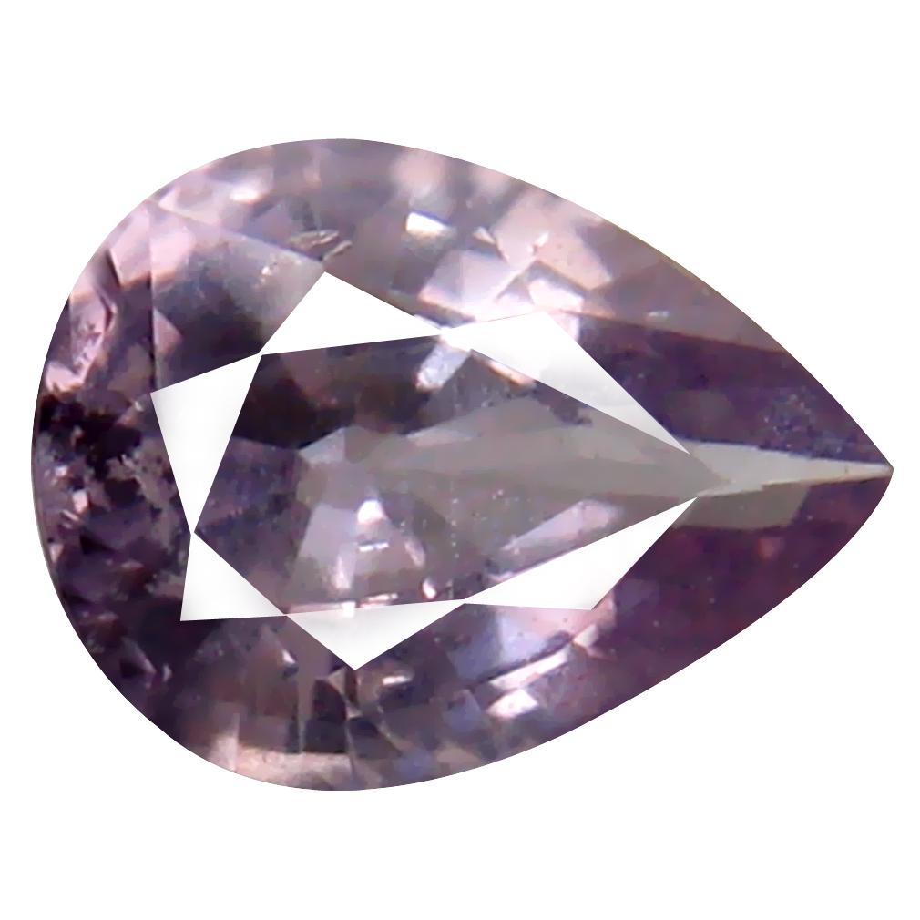 1.32 ct Impressive Pear Cut (8 x 6 mm) Un-Heated Peach Pink Sapphire Natural Gemstone