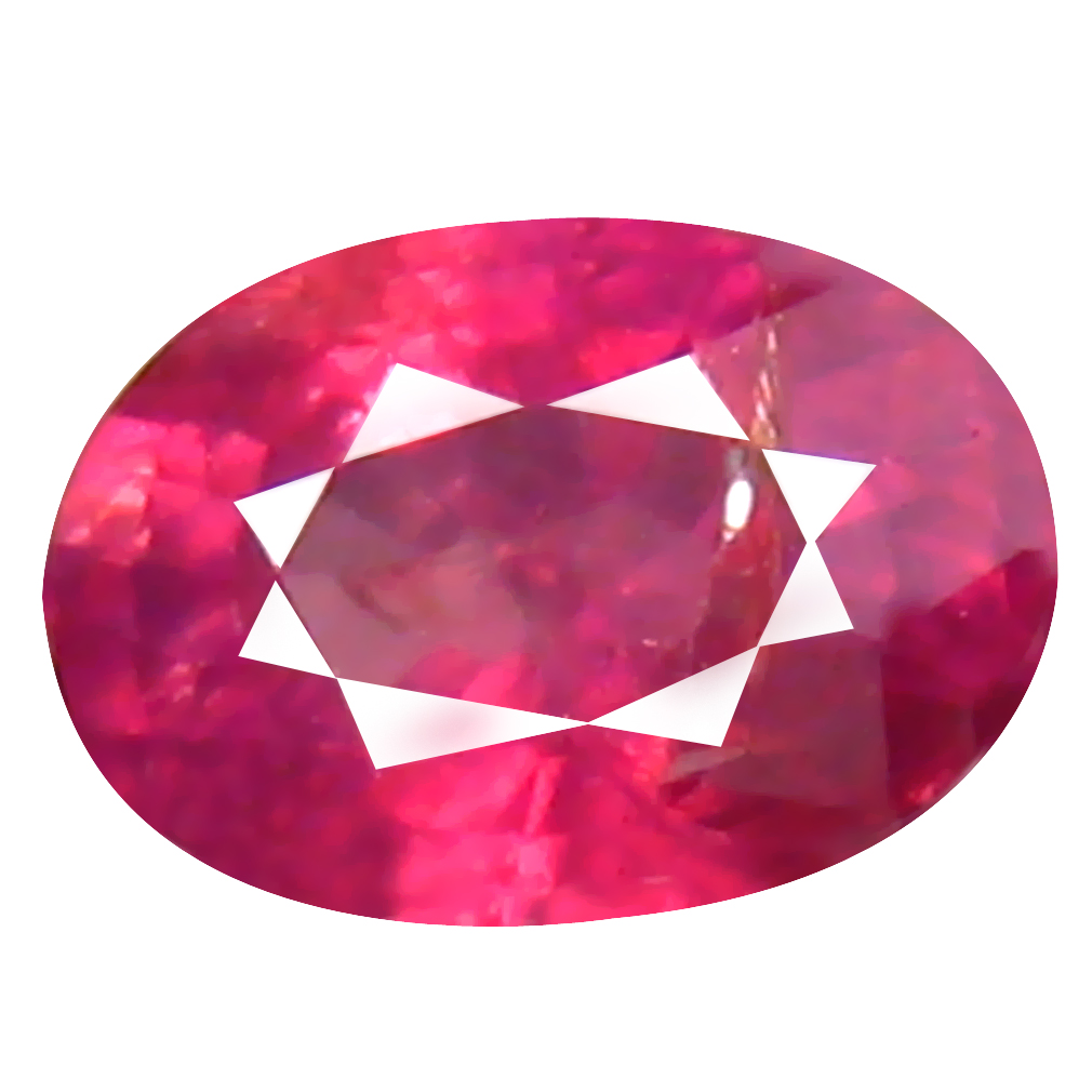 0.73 ct Awe-inspiring Oval Cut (6 x 4 mm) Un-Heated Pigeon Blood Red Sapphire Natural Gemstone