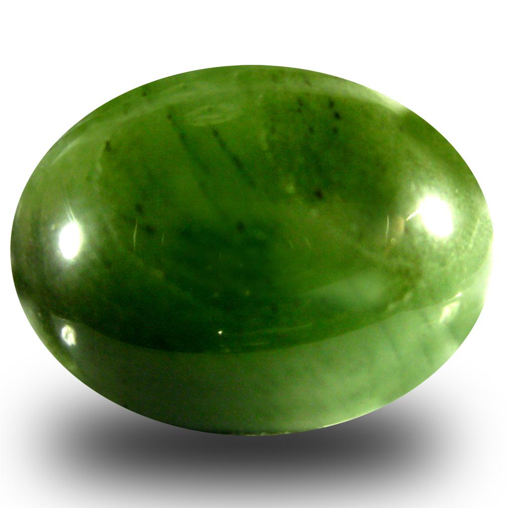 15.62 ct Terrific Oval Cabochon Cut (19 x 14 mm) Olive Green Un-Heated Serpentine Natural Gemstone