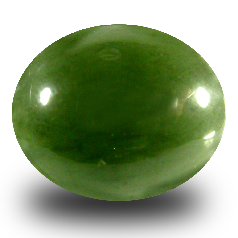 22.36 ct Incomparable Oval Cabochon Cut (20 x 16 mm) Olive Green Un-Heated Serpentine Natural Gemstone