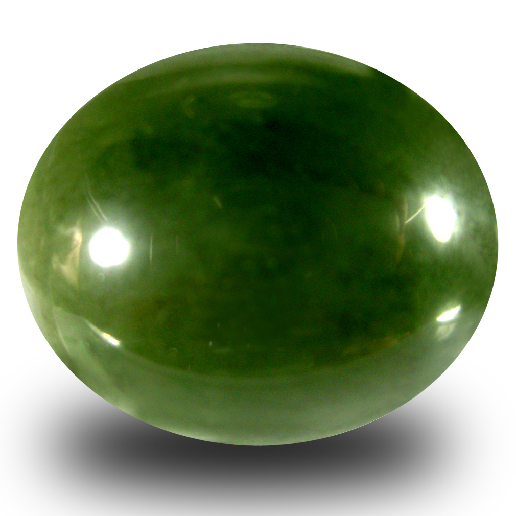 23.77 ct Charming Oval Cabochon Cut (21 x 17 mm) Olive Green Un-Heated Serpentine Natural Gemstone