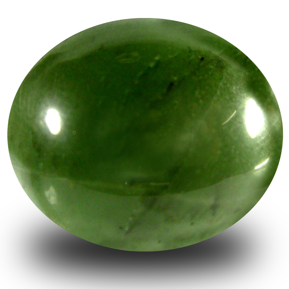 16.80 ct Pleasant Oval Cabochon Cut (18 x 15 mm) Olive Green Un-Heated Serpentine Natural Gemstone