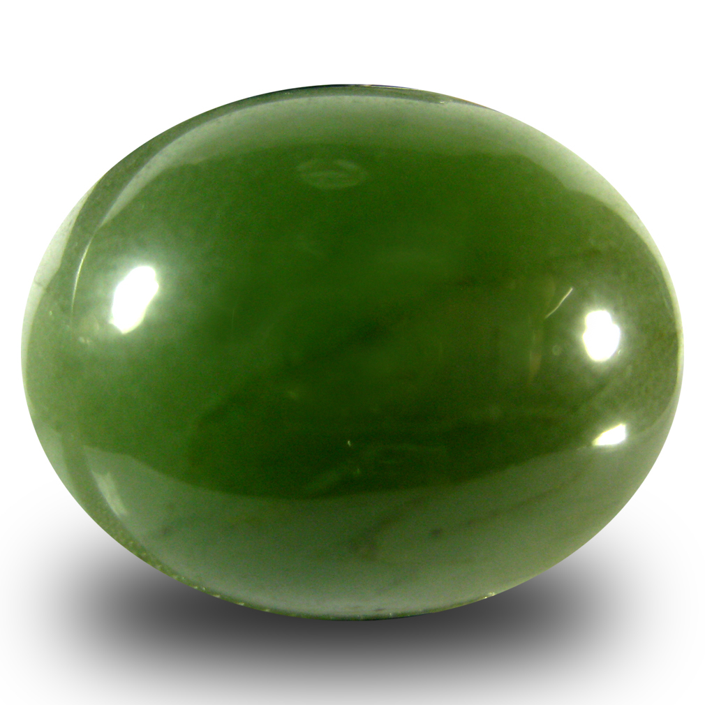 20.80 ct Supreme Oval Cabochon Cut (20 x 16 mm) Olive Green Un-Heated Serpentine Natural Gemstone