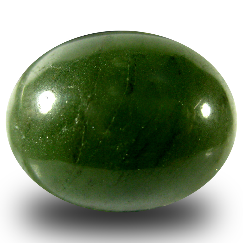15.62 ct Good-looking Oval Cabochon Cut (18 x 14 mm) Olive Green Un-Heated Serpentine Natural Gemstone