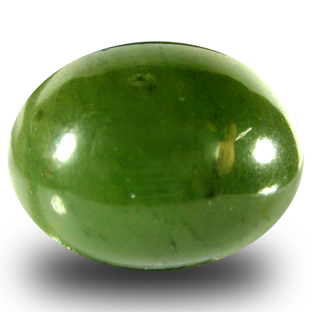 18.32 ct Pretty Oval Cabochon Cut (18 x 14 mm) Olive Green Un-Heated Serpentine Natural Gemstone