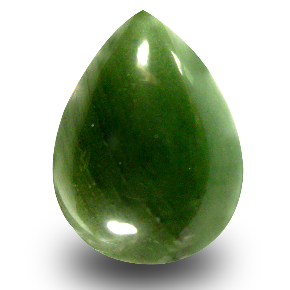 17.43 ct Incredible Pear Cabochon Cut (21 x 16 mm) Olive Green Un-Heated Serpentine Natural Gemstone