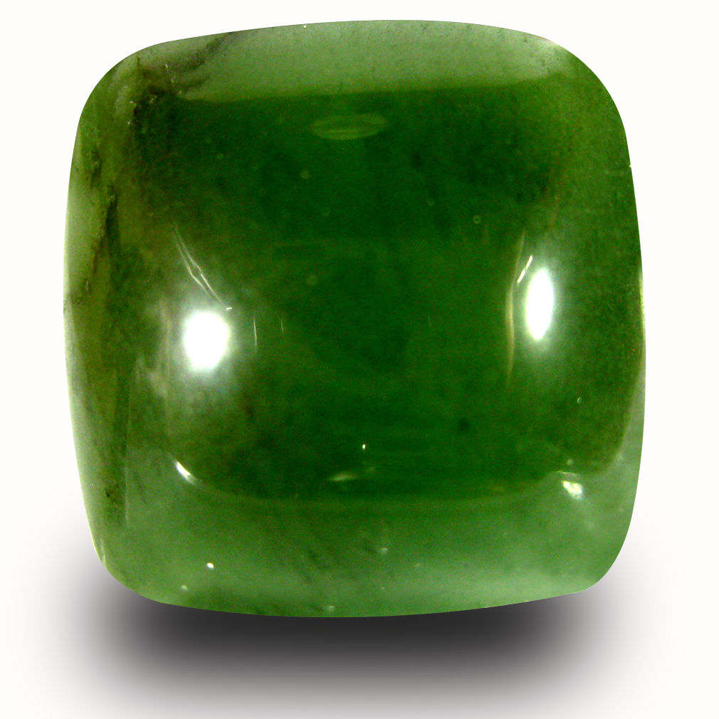 17.78 ct Amazing Cushion Cabochon Cut (16 x 16 mm) Olive Green Un-Heated Serpentine Natural Gemstone