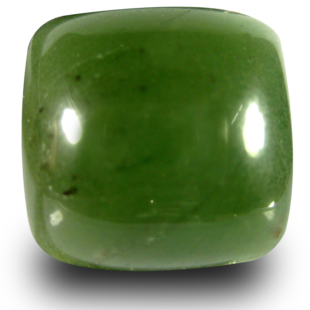 21.20 ct Elegant Cushion Cabochon Cut (17 x 16 mm) Olive Green Un-Heated Serpentine Natural Gemstone