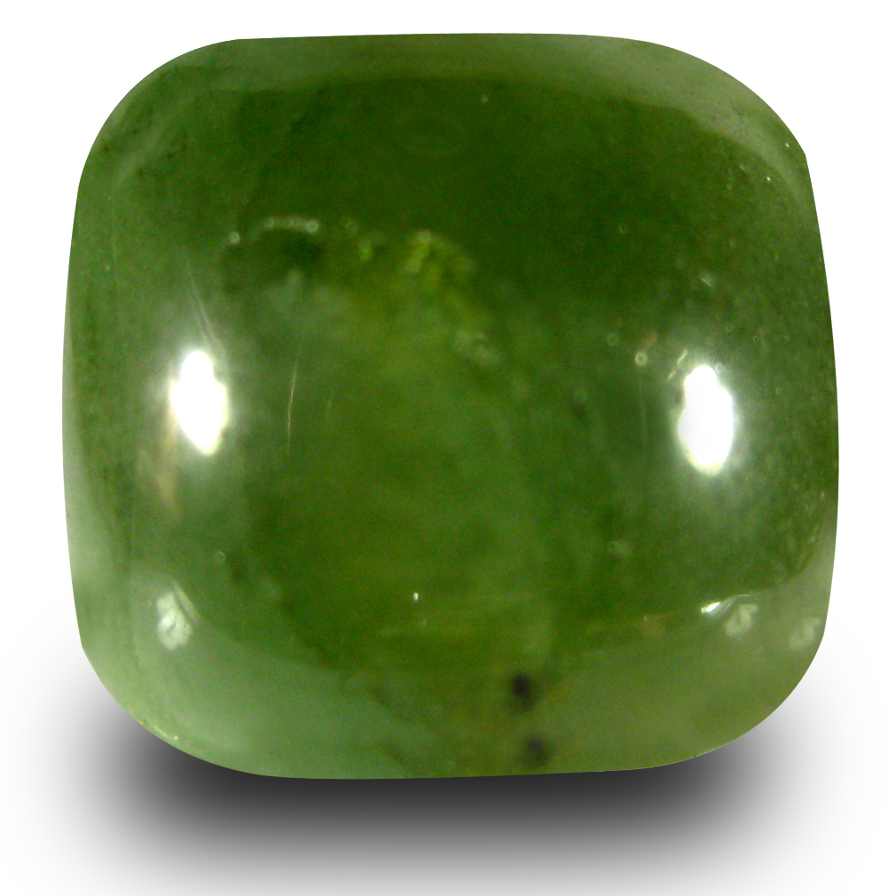 13.68 ct Exquisite Cushion Cabochon Cut (15 x 14 mm) Olive Green Un-Heated Serpentine Natural Gemstone